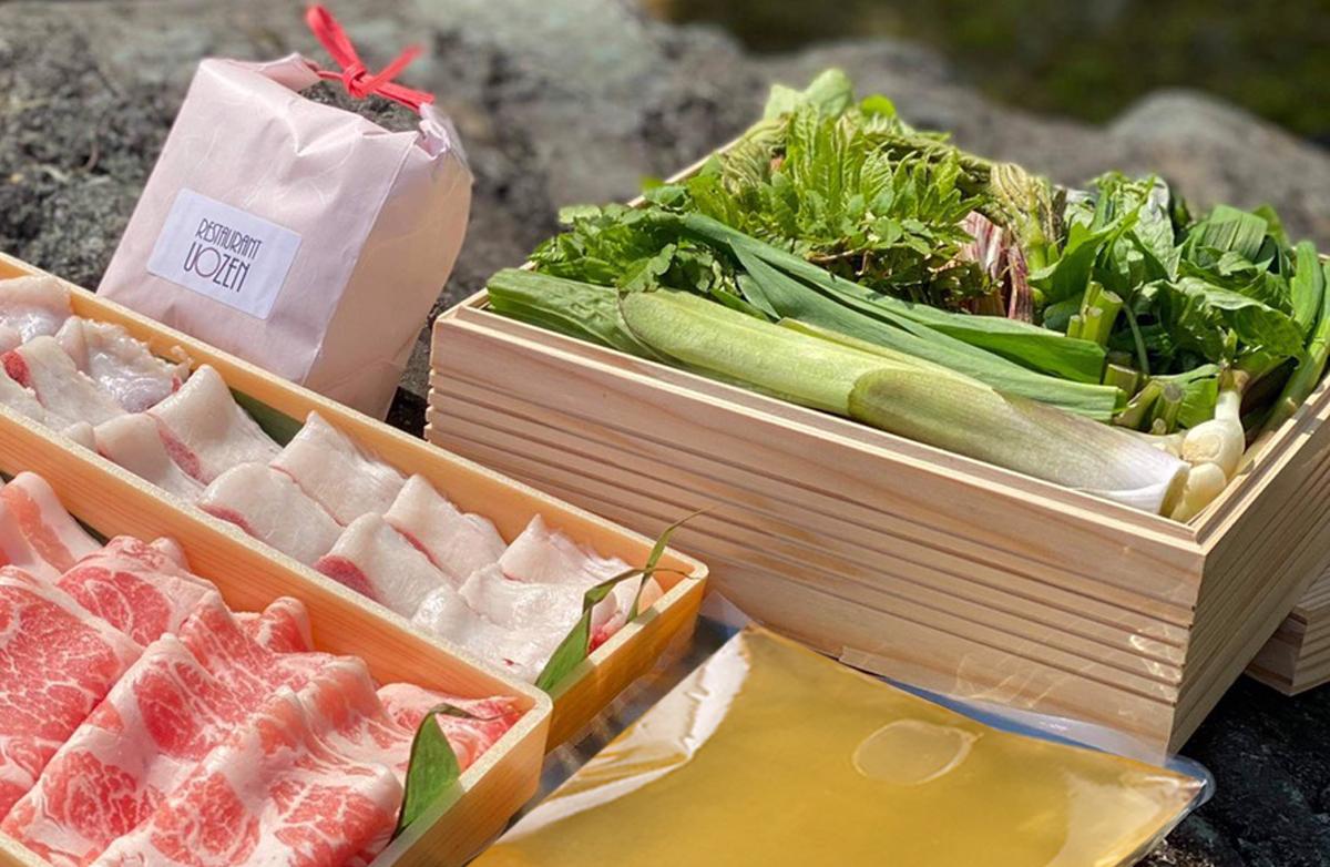 【5月】 Restaurant UOZEN / 井上和洋<br /> 新潟県産山菜しゃぶしゃぶ鍋セット